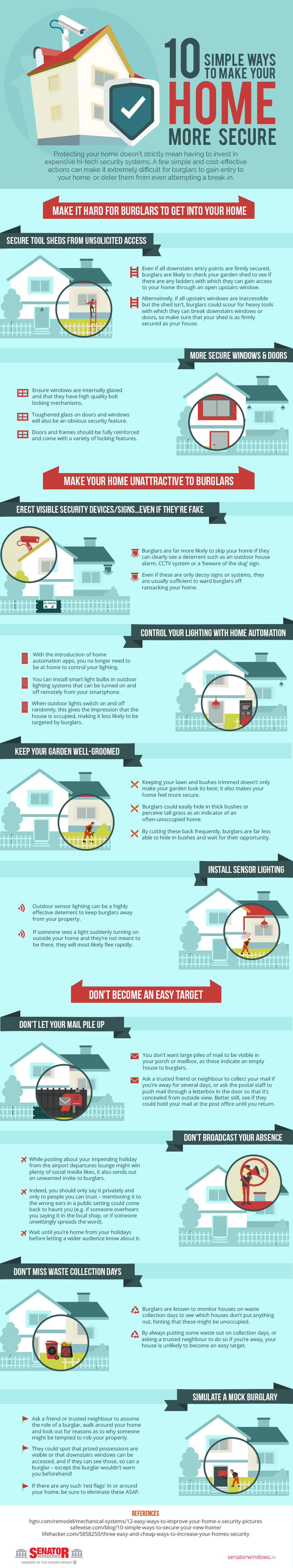 infographic on how to make your home more secure