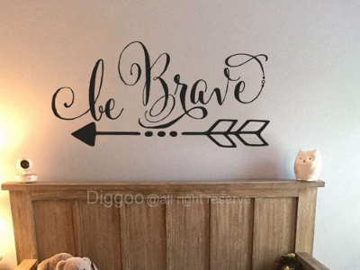 wall sticker that says be brave