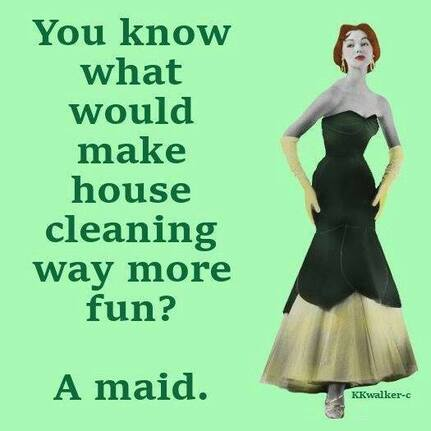 Funny meme about housecleaning