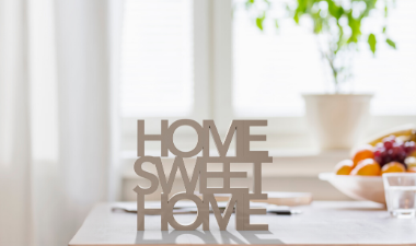 photo of the quote home sweet home