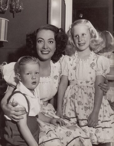 Photo of Joan Crawford with Christina and Christopher