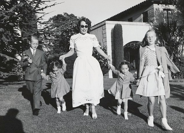 Photo of Joan Crawford with her kids
