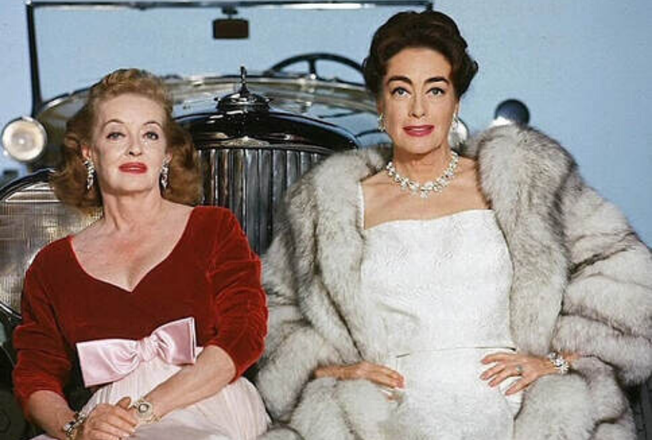 Joan Crawford and Bette Davis publicity still from Hush Hush Sweet Charlotte