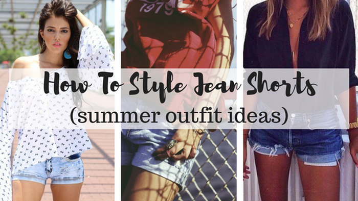 jean shorts ideas