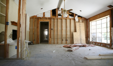 photo of a room being remodeled