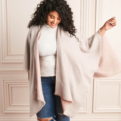 Stella and Dot Reversible Blanket Poncho